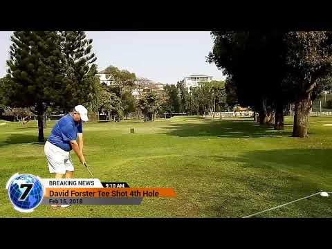 4th Hole Tee Shot Asia Pattaya Golf Course Thailand