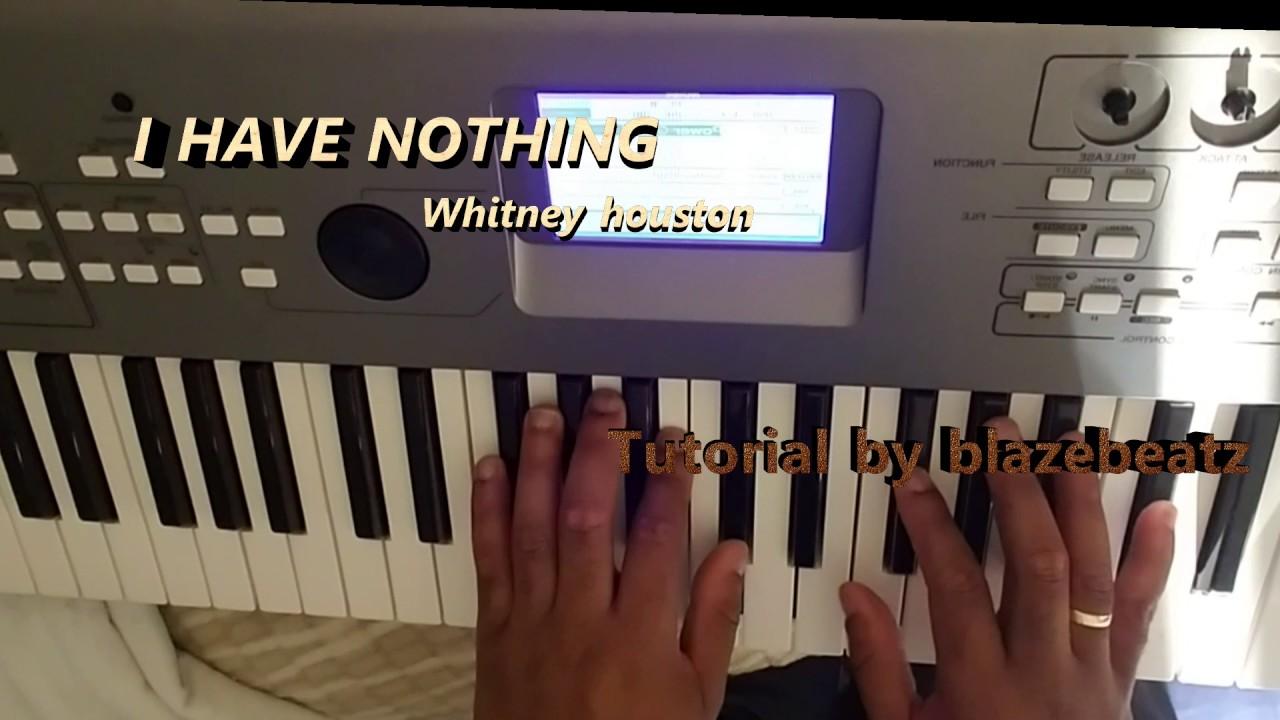I Have Nothing Whitney Houstonpiano Chords Youtube
