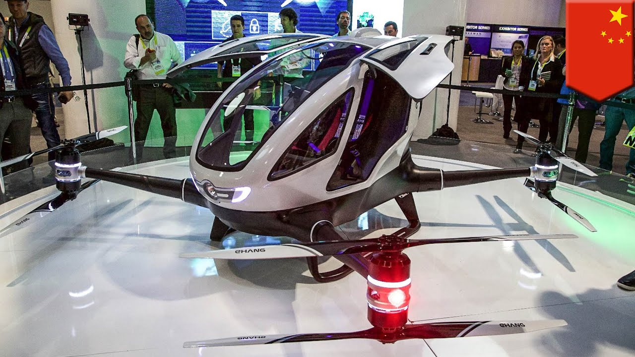 Passenger Drone Ehang 184 Unveiled As Worlds First AAV Able To Carry People