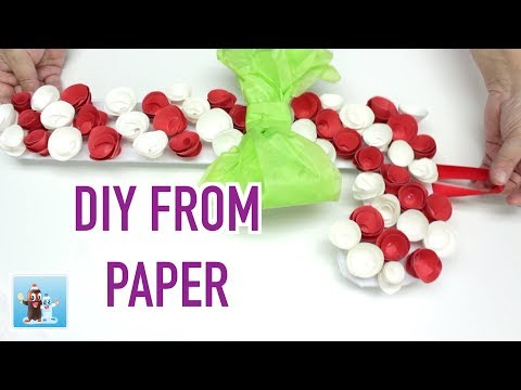 Amazing Christmas Stick from Paper DIY Art and Craft Decorations Ideas