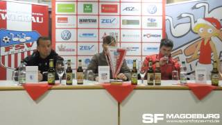 Pressekonferenz - FSV Zwickau gegen 1. FC Magdeburg 0:2 (0:0) - www.sportfotos-md.de