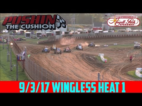 Angell Park Speedway - 9/3/17 - Wingless - Heat 1