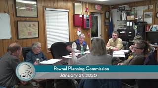 Pownal Planning Commission // 01/21/20