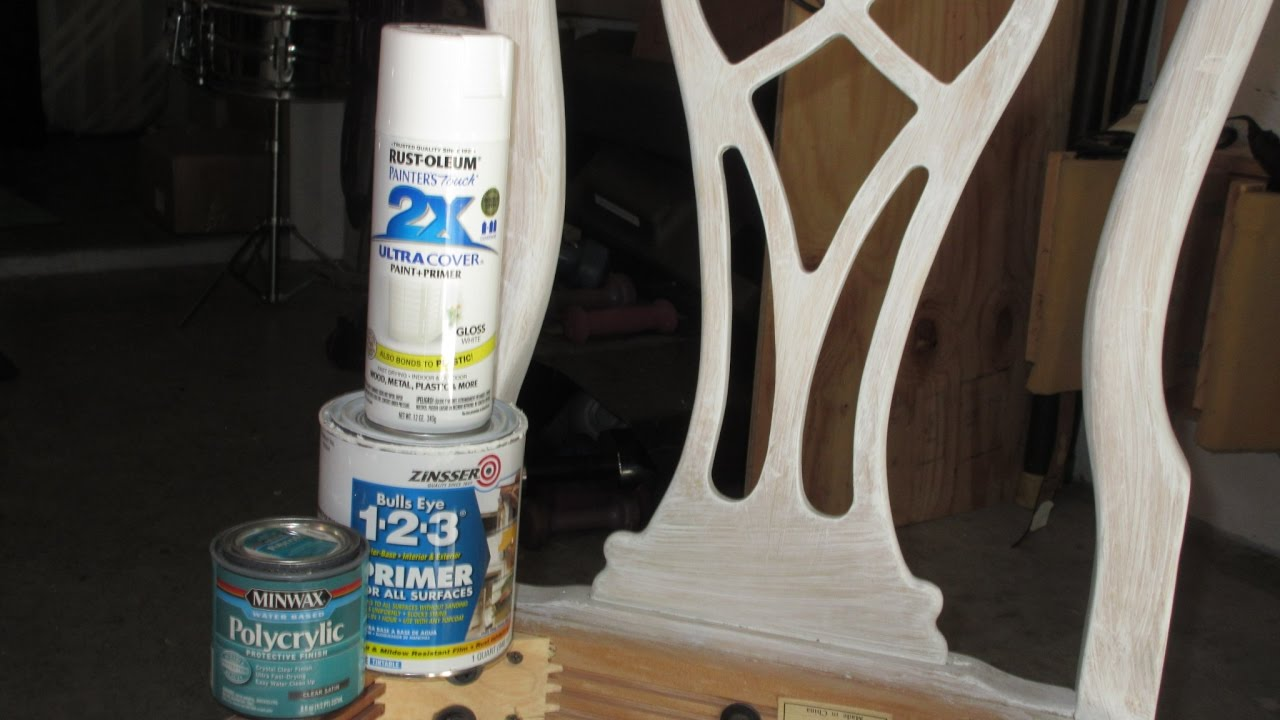 How to paint furniture that has a glossy finish(without sanding off finish!)