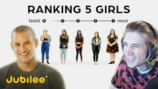 xQc Reacts to Ranking Women By Attractiveness | 5 Guys vs 5 Girls