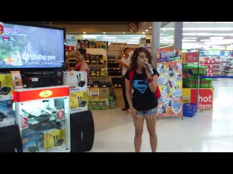 A Random Girl Steps Up To A Karaoke Machine and Floors Everyone