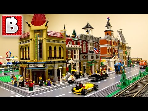Lego City Update!!! 1st Modular Buildings Row Completed!-ish