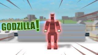 I'M a GODZILLA on ROBLOX! (Godzilla Simulator)