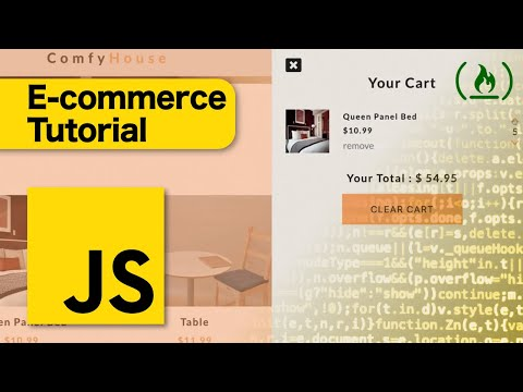 E-Commerce JavaScript Tutorial - Shopping Cart from Scratch thumbnail