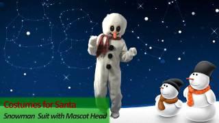 Costumes For Santa: Snowman Suit