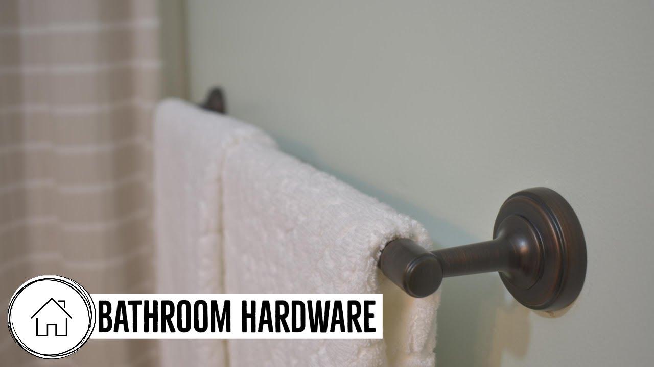 How To Install Bathroom Hardware Glacier Bay Youtube