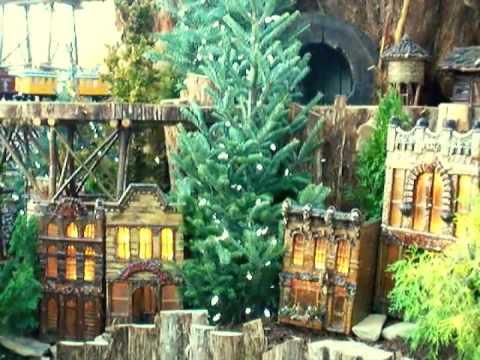 The christmas train show at the us botanic garden in washington dc youtube for Botanical gardens dc christmas