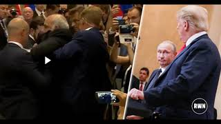 Attack On Trump In Middle Of Putin Presser – Dragged Out By Security After Getting Too Close