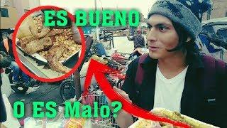 Probando comida callejera en Tacora - La Cachina Lima | Rockma FT. Dilo nomas
