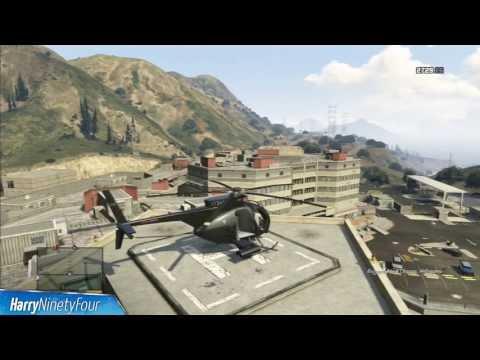 Grand Theft Auto V - Buzzard Attack Helicopter Location