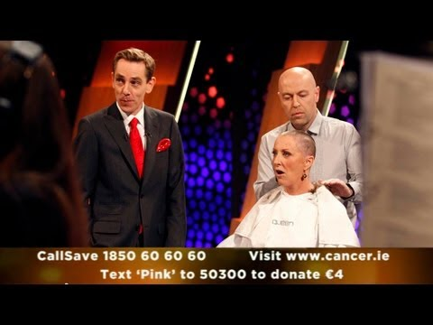 Majella O'Donnell has her hair shaved for charity | The Late Late Show