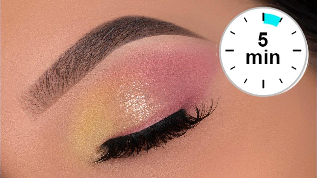 5 MINUTE Soft Spring Eye Makeup Tutorial