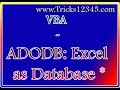VBA ADODB Connect to  Excel as Database Star