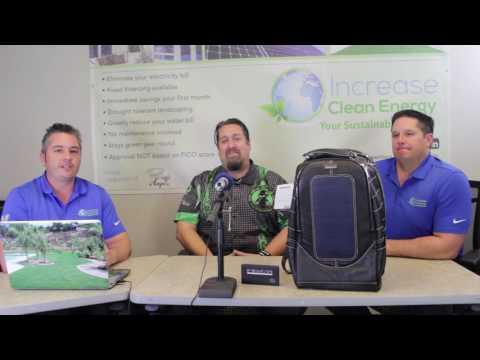 ( Y.S.F. Podcast #8) Hitechninja Solar Powered BackPacks! Solar on the go!