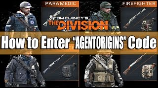 "The Division: How to Enter the ""AGENTORIGINS"" Code to Get 4 Complete Gear Sets!"