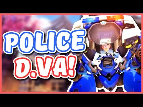 Overwatch - BLIZZARD HATES CONSOLE PLAYERS? (D.Va Police Skin)