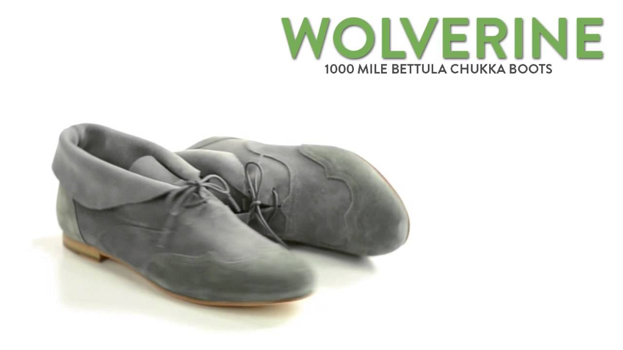 Wolverine 1000 Mile Bettula Chukka Boots - Suede (For Women) - YouTube