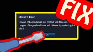 Maestro Error Fix for Windows 10