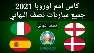 موعد وتوقيت مباريات نصف نهائي كأس أمم اوروبا 2021