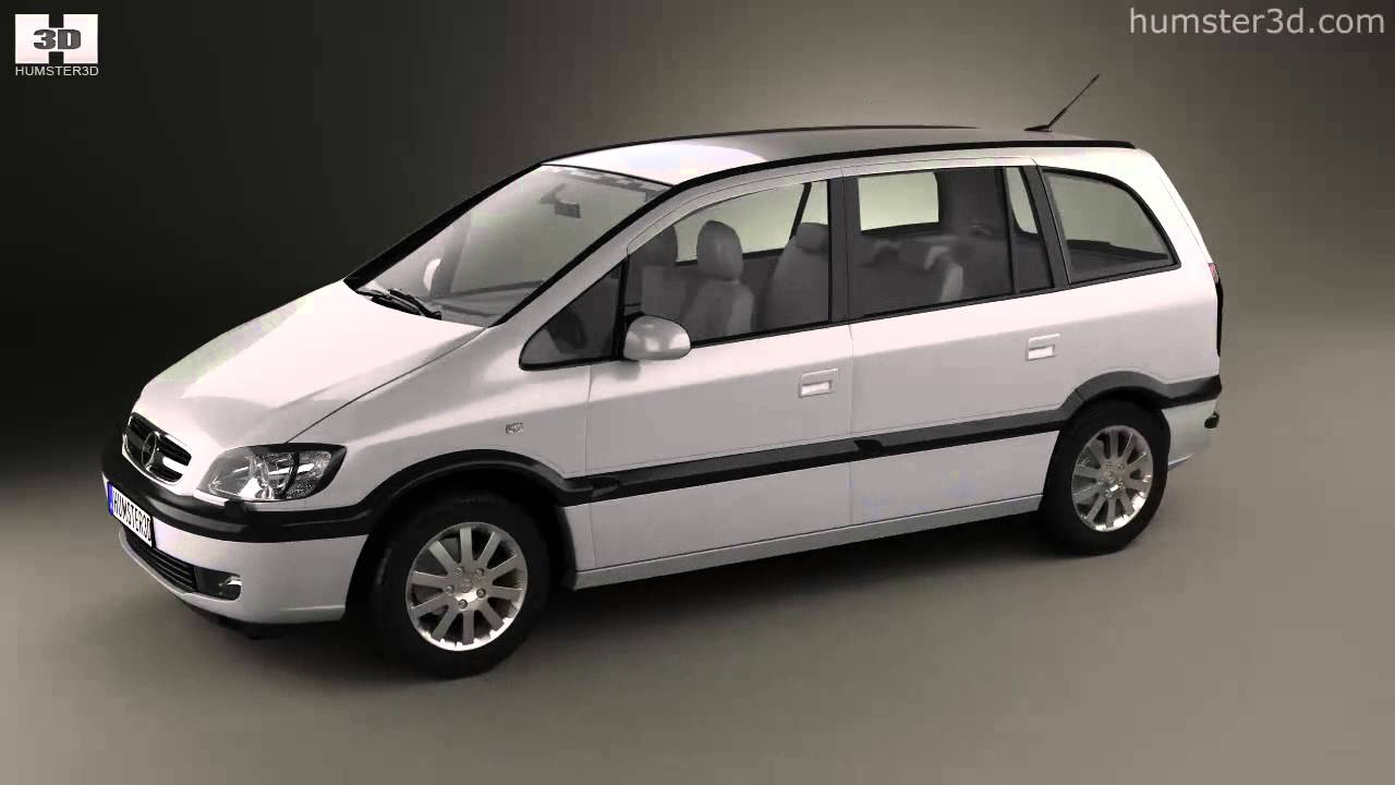opel zafira a 2000 by 3d model store youtube. Black Bedroom Furniture Sets. Home Design Ideas