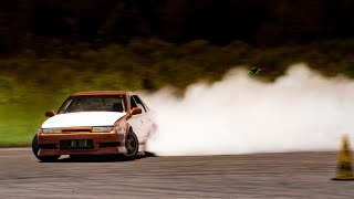 homepage tile video photo for Drifting my Honda K24 Powered Nissan Sedan for the first time. It's a smoke machine.