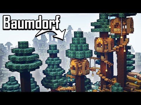 Minecraft Starterhaus In Der Riesenbaumtaiga Bauen 🌲🌲 Riesenbaumtaiga Haus Bauen Minecraft Deutsch