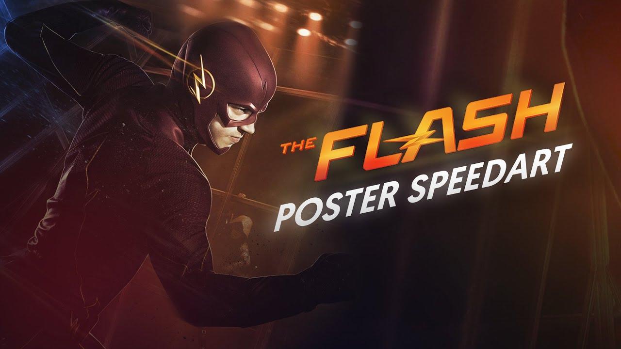 Uitzonderlijk The Flash Poster - Speedart - YouTube #RO17