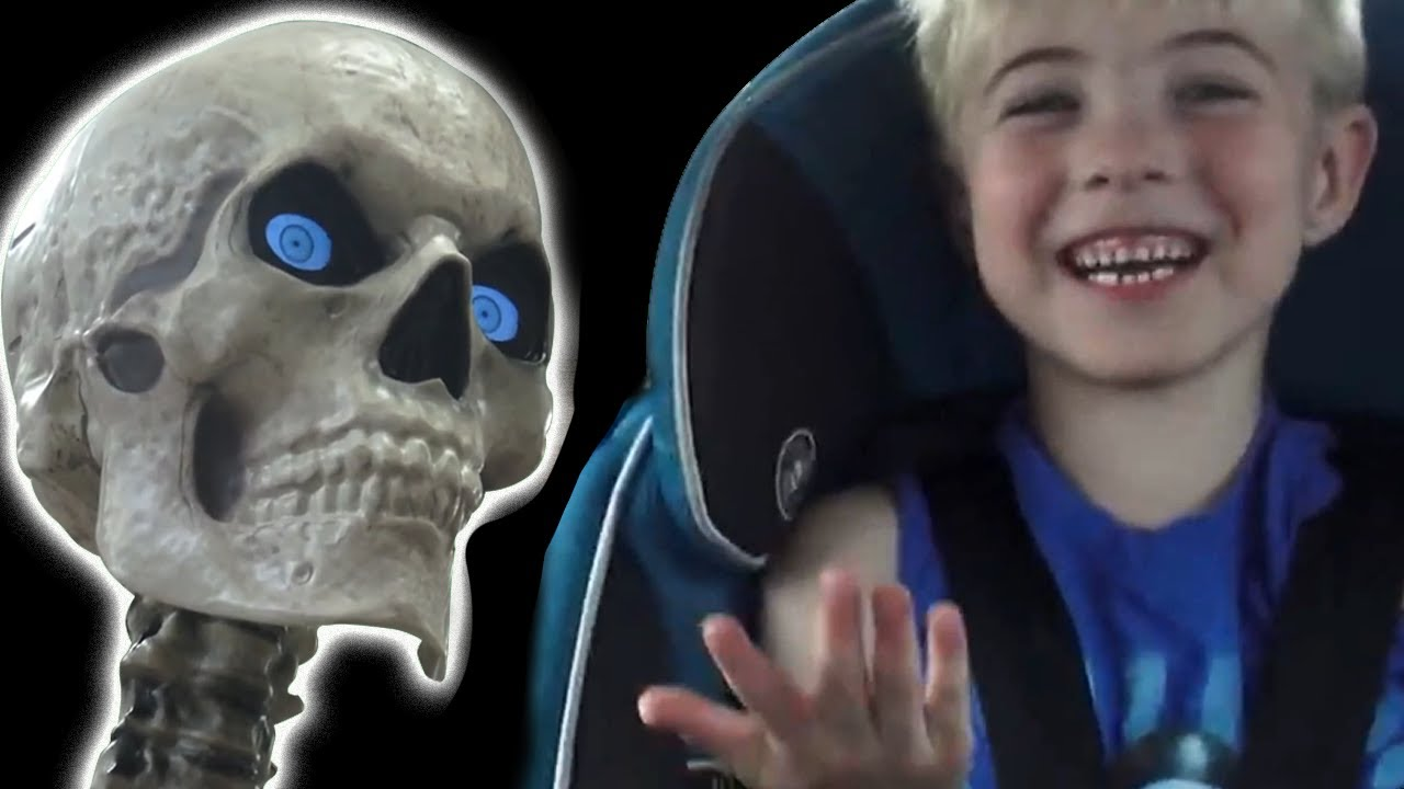We Found A Giant 12 Foot Skeleton At Home Depot Plus An Animatronic Jack In The Box Clown Youtube