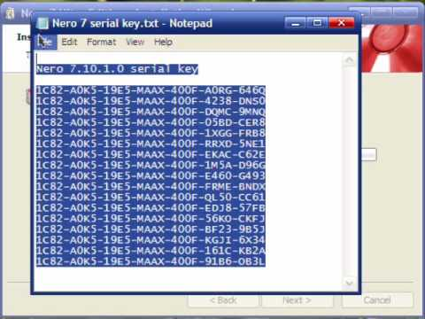 cd key nero 7