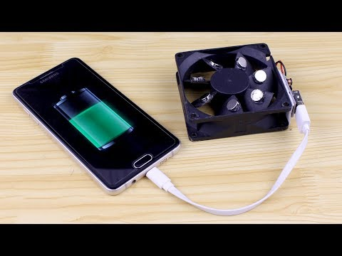 How To Make a Free Energy Mobile Phone Charger With Computer Fan
