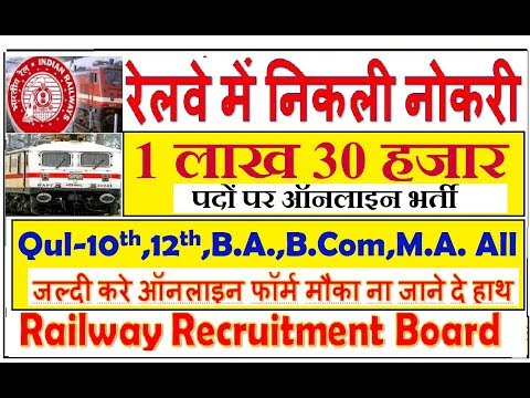 Latest indian railway recruitment  apply online application form