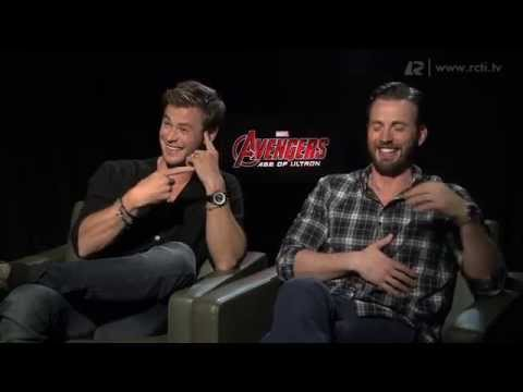 With Chris Hemsworth & Chris Evans - Avenger Age of Ultron