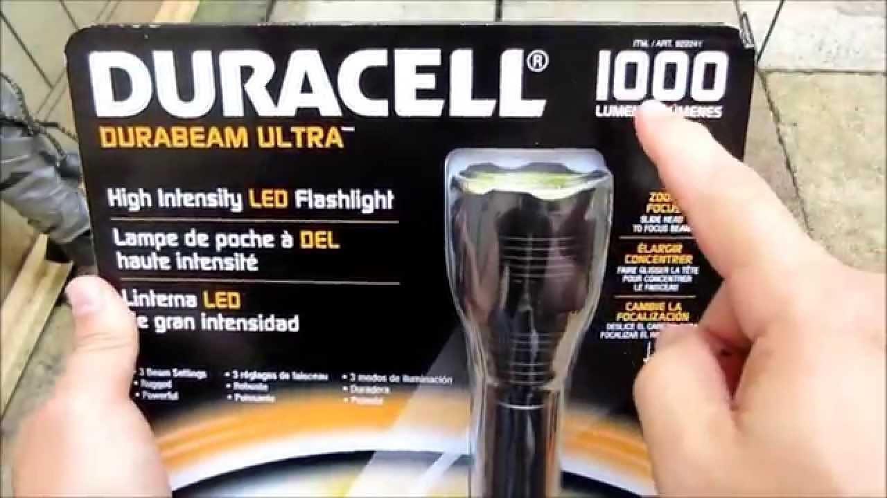Unboxing Durabeam Ultra Lumens From Review And 1000 Duracell Costco zMLSUpqVG