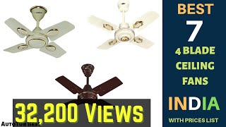 Top 7 Best 4 Blade 24 Inch Ceiling Fans in India