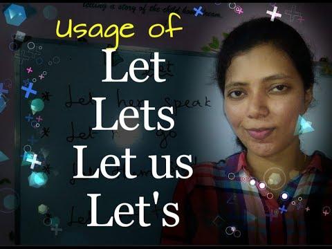 "Usage of LET, LETS, LET US, LET""S / Spoken English through Tamil lesson 36"