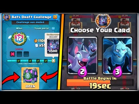 Thumbnail: 12 WINS BATS DRAFT CHALLENGE | CLASH ROYALE BATS DRAFT CHALLENGE | NEW CARD GAMEPLAY!