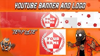 Youtube Banner and Logo Template