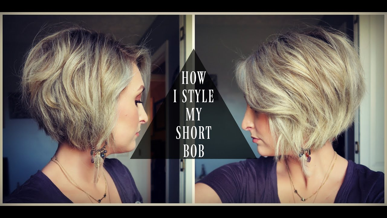 How To Style A Short Bob Textured Voluminous Hair Summer Whitfield Youtube