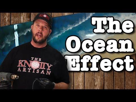 Ocean Painting Effect Using Epoxy Resin Art