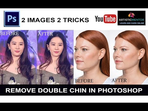 How To Remove Double Chin In  Photoshop | Photoshop Tutorial