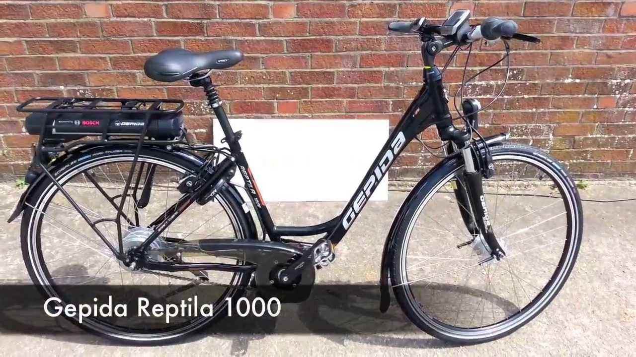 Gepida Reptila 1000 Electric Bike Powered By Bosch Youtube