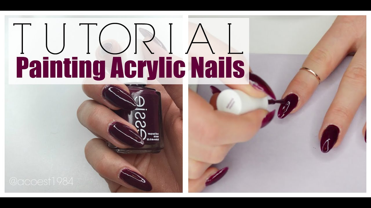 Nails how to paint acrylic nails youtube solutioingenieria Choice Image