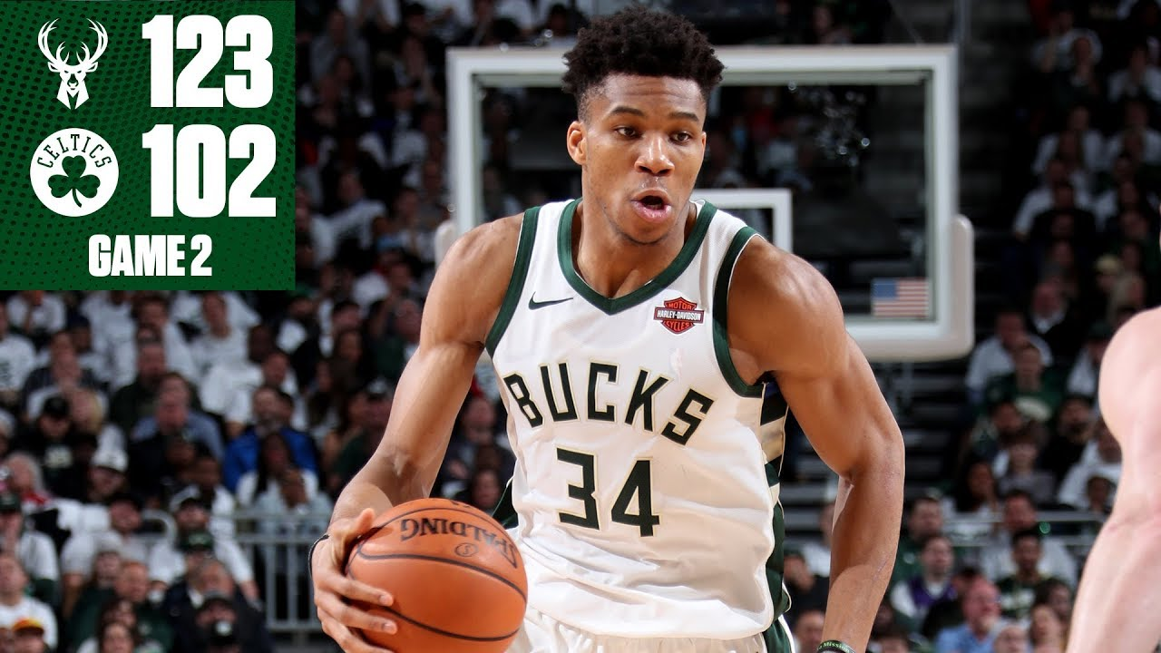 Giannis Antetokounmpo, Bucks avenge Game 1 loss and even series vs. Celtics | NBA Highlights