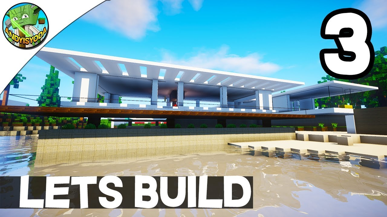 Minecraft lets build a modern house e03 by andyisyoda for Lets build modern house 7