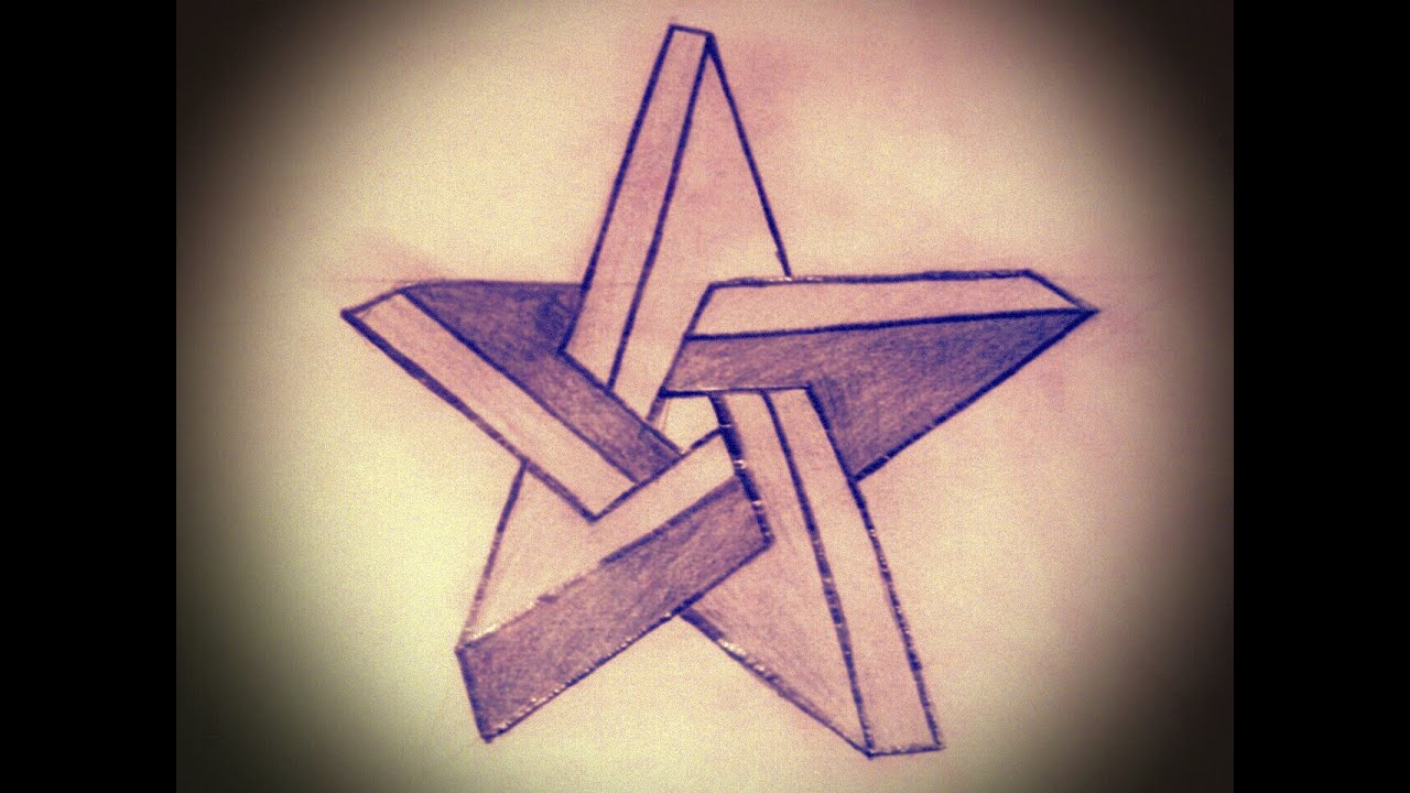 Speed Drawing Impossible StarDibujando Estrella Imposible  YouTube